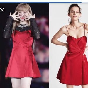 ❤❤❤ Zara red hot tuxedo dress